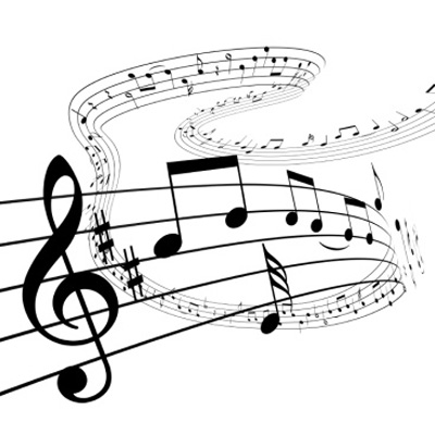 Musical notes graphic
